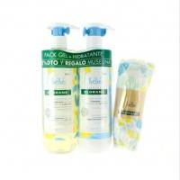 Klorane Pack bebé Gel 500ml+leche Hidratante 500ml+Muselina